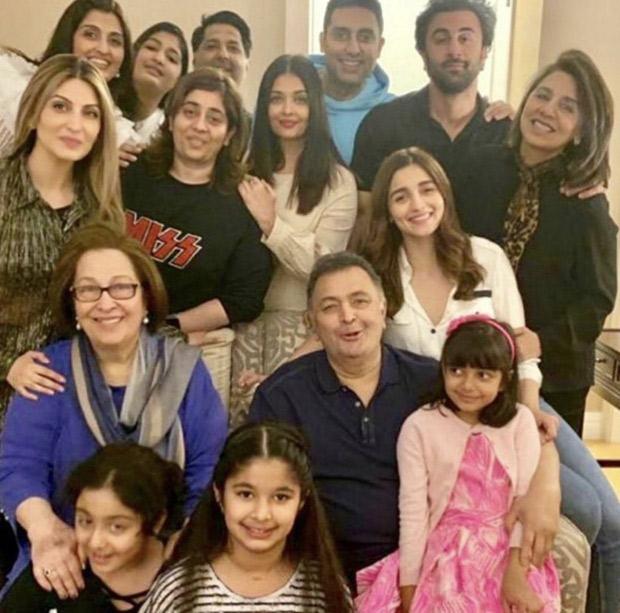 FAMILY PHOTO ALERT: Ranbir Kapoor, Alia Bhatt, Abhishek Bachchan, Aishwarya Rai Bachchan join Rishi Kapoor and family in New York