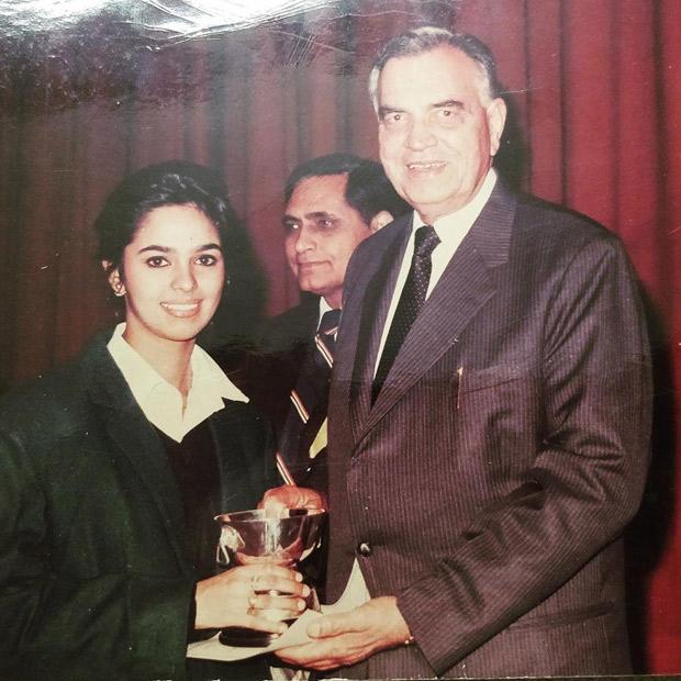 Throwback Thursday: Mallika Sherawat shares a nostalgic photo of her winning an award from her school days