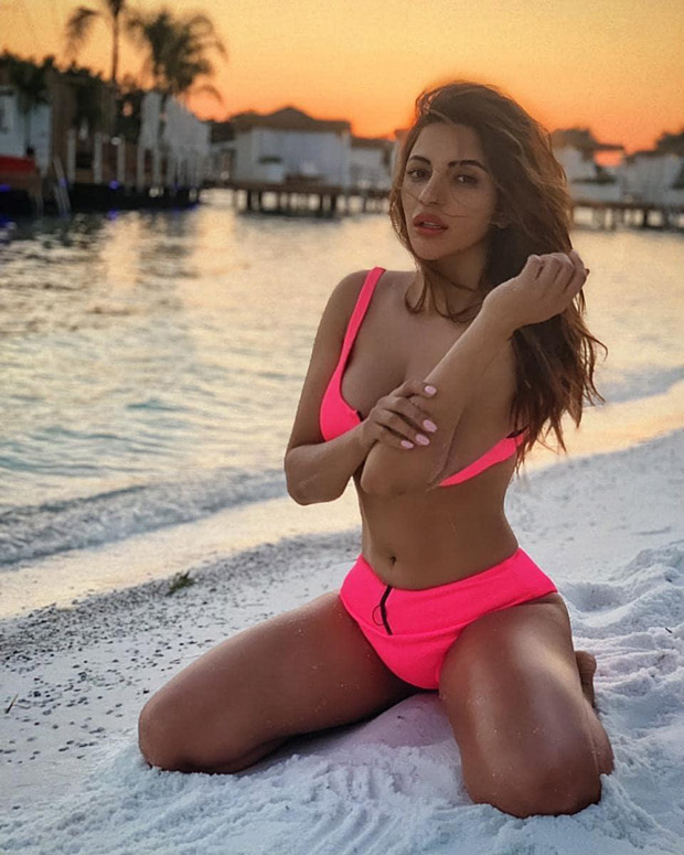 HOT! Shama Sikander soaking up the sun and sand in a pink bikini is sure to give you vacation goals
