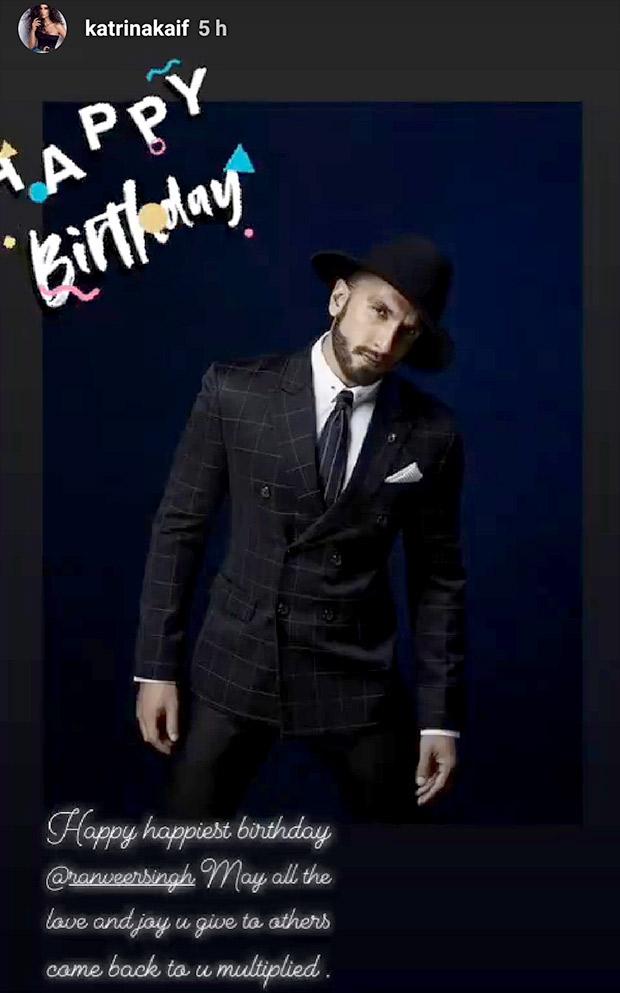 Happy Birthday Ranveer Singh: Bollywood's Simmba receives lovely wishes from Alia Bhatt, Katrina Kaif, Sonakshi Sinha among others