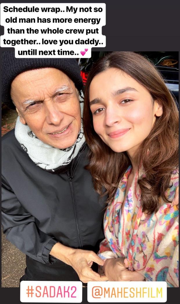 SADAK 2: Alia Bhatt announces schedule wrap with a heartwarming post praising her father Mahesh Bhatt