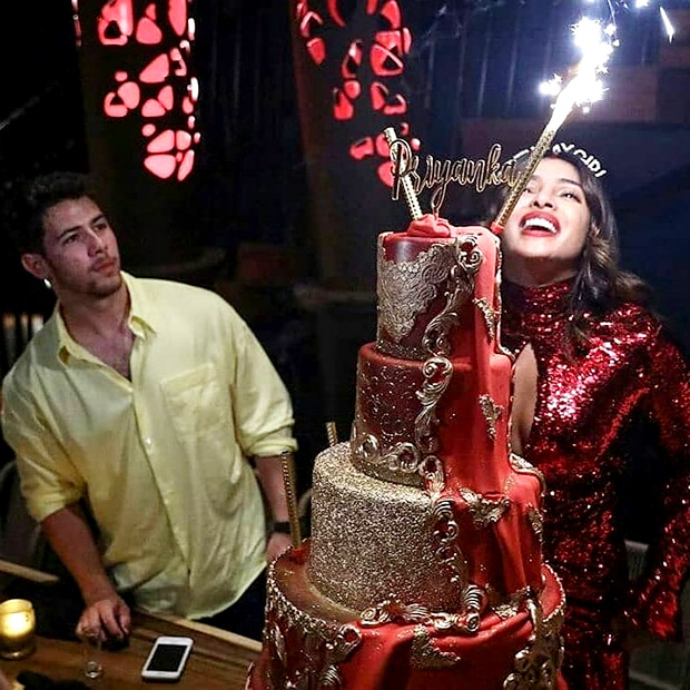INSIDE PHOTOS: Priyanka Chopra rings in her birthday glamorously with sparklers and cake