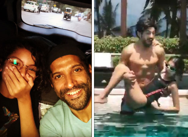 Farhan Akhtar shares this cute boomerang pool video with daughter Akira and it is all father-daughter fun!