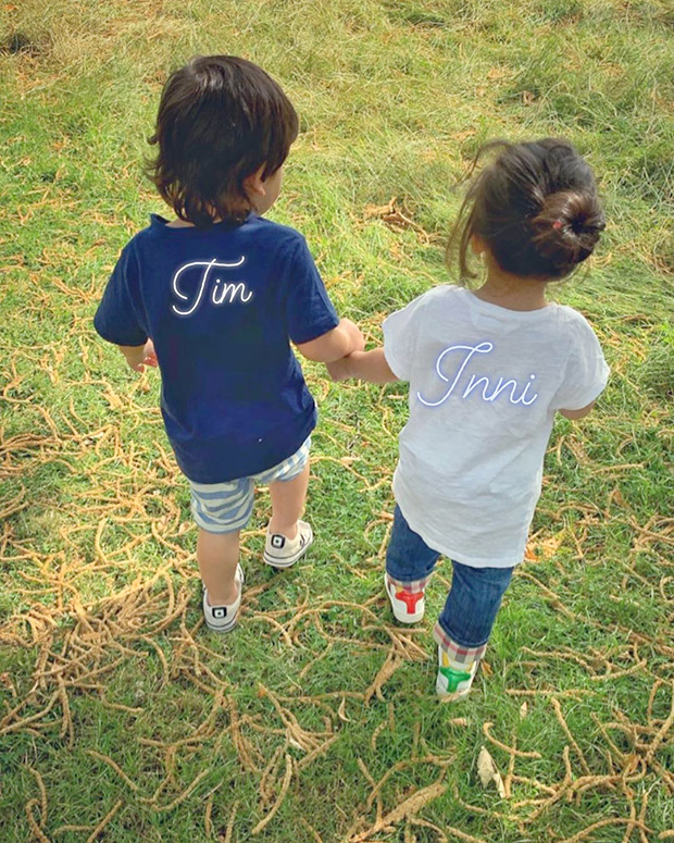 PHOTO: Cousins Taimur Ali Khan and Inaaya Naumi Kemmu bond with each other as they take a stroll!