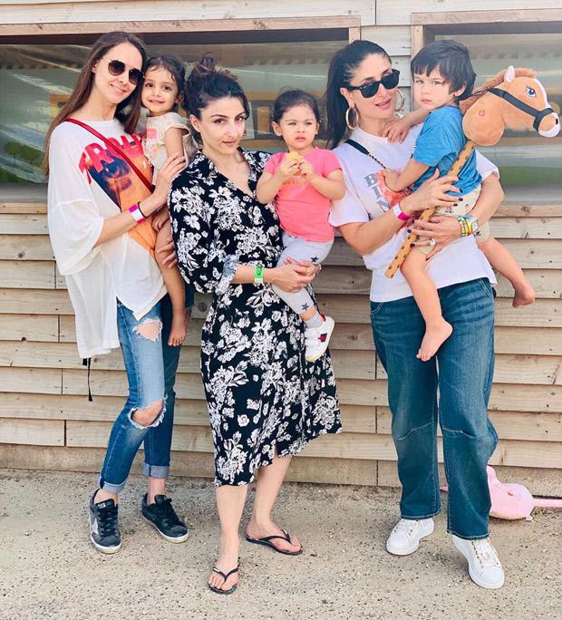 Kareena Kapoor Khan and Soha Ali Khan spend time together with their children Taimur Ali Khan and Inaaya Kemmu!