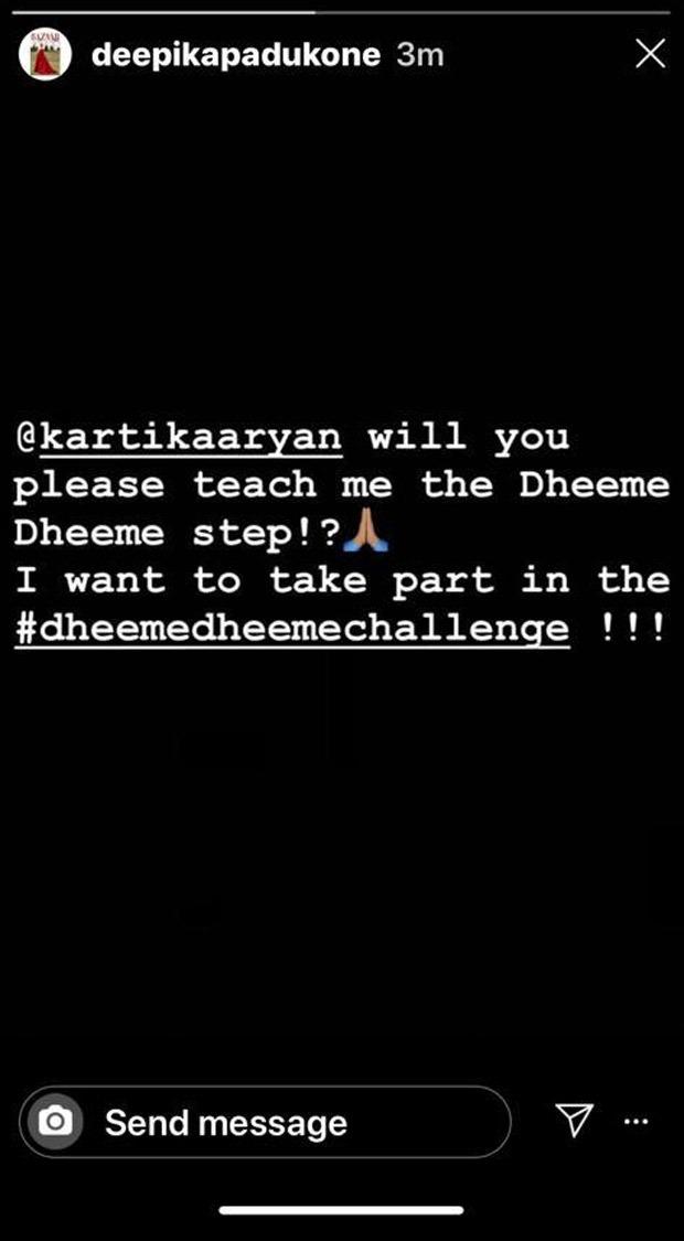 Deepika Padukone has a special request for Kartik Aaryan