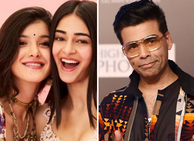 Karan Johar strikes a pose with his favourite 'millenials' Ananya Panday and Shanaya Kapoor