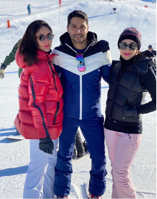 Kareena Kapoor Khan and Karisma Kapoor run into Varun Dhawan during Swiss vacation