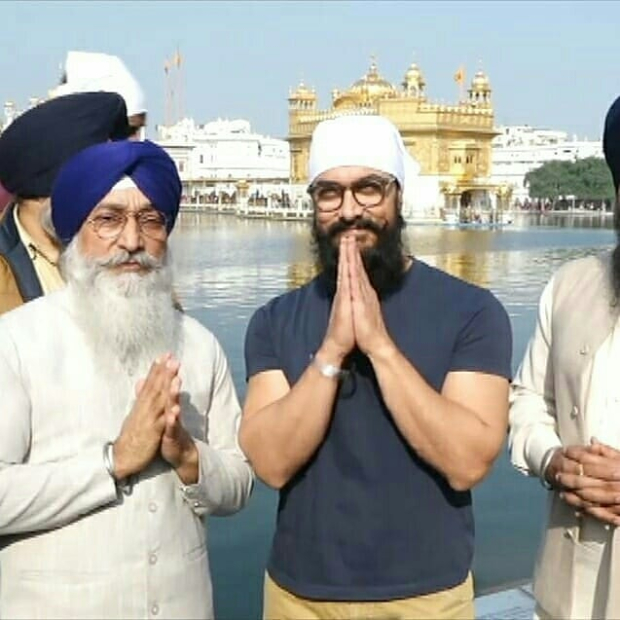 Laal Singh Chaddha: After song wrap up, Aamir Khan seeks blessings at Golden Temple