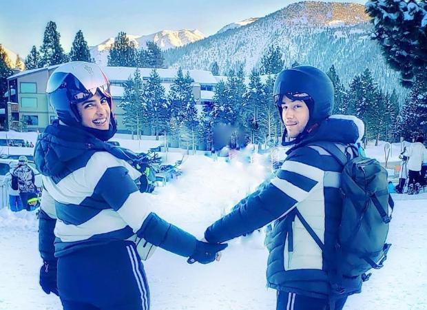 Priyanka Chopra Jonas and Nick Jonas twin as they bid goodbye to the Winter Wonderland!