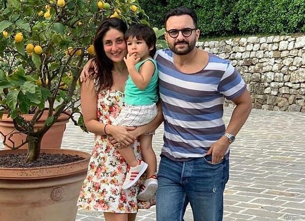 Saif Ali Khan, Kareena Kapoor Khan and little Taimur pose for a happy family frame in Pataudi palace