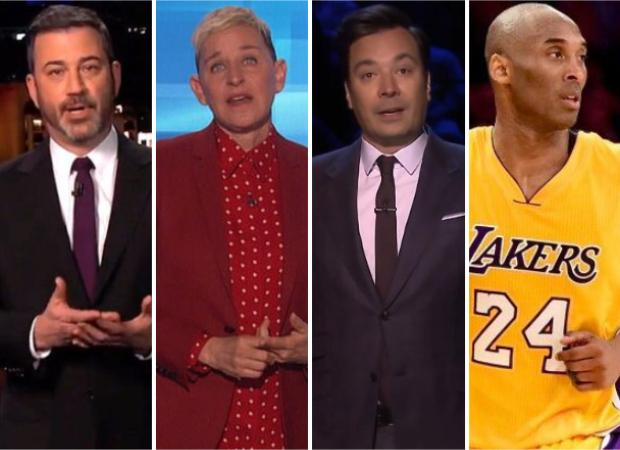 Jimmy Kimmel, Ellen Degeneres, Jimmy Fallon break down while paying tribute to late NBA player Kobe Bryant