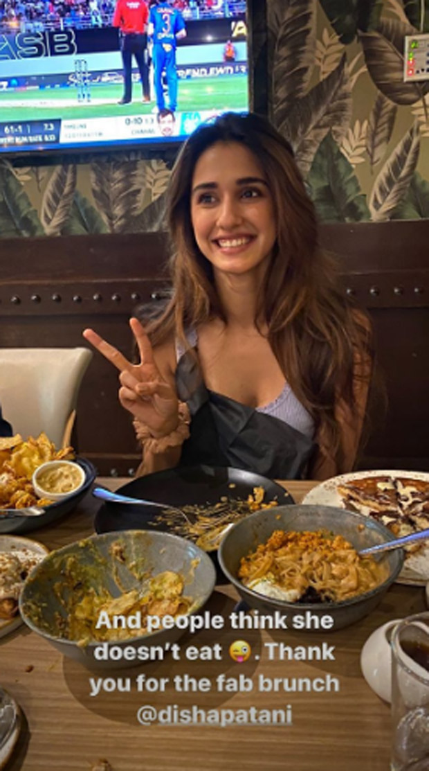 Disha Patani is a complete foodie, we got proof!