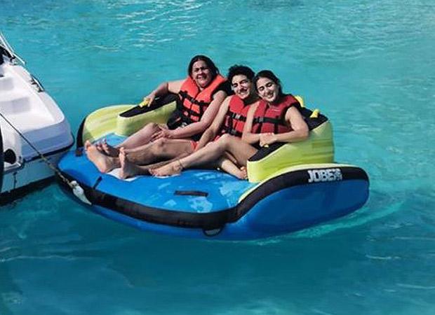 Sara Ali Khan is all smiles as she enjoys in Maldives with Ibrahim Ali Khan and Amrita Singh; see pics