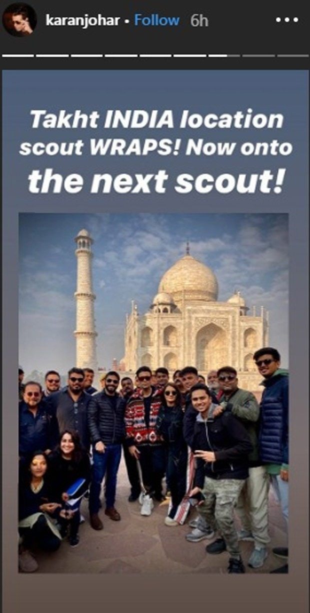 Takht: Karan Johar and team wrap location scouting in India