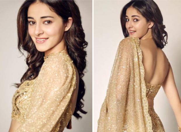 Ananya Panday dazzles in Kresha Bajaj golden lehenga at Armaan Jain and Anissa Malhotra's wedding reception