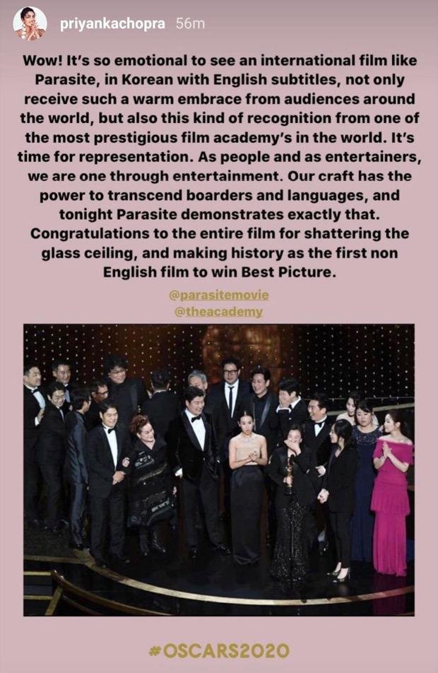 Oscars 2020: Karan Johar, Priyanka Chopra, Madhuri Dixit among others celebrate Bong Joon Ho's incredible win with Parasite