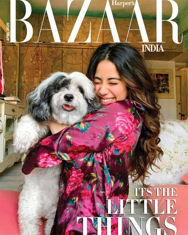 Janhvi Kapoor ditches makeup and poses with pet dog for Harper's Bazaar cover clicked by sister Khushi Kapoor