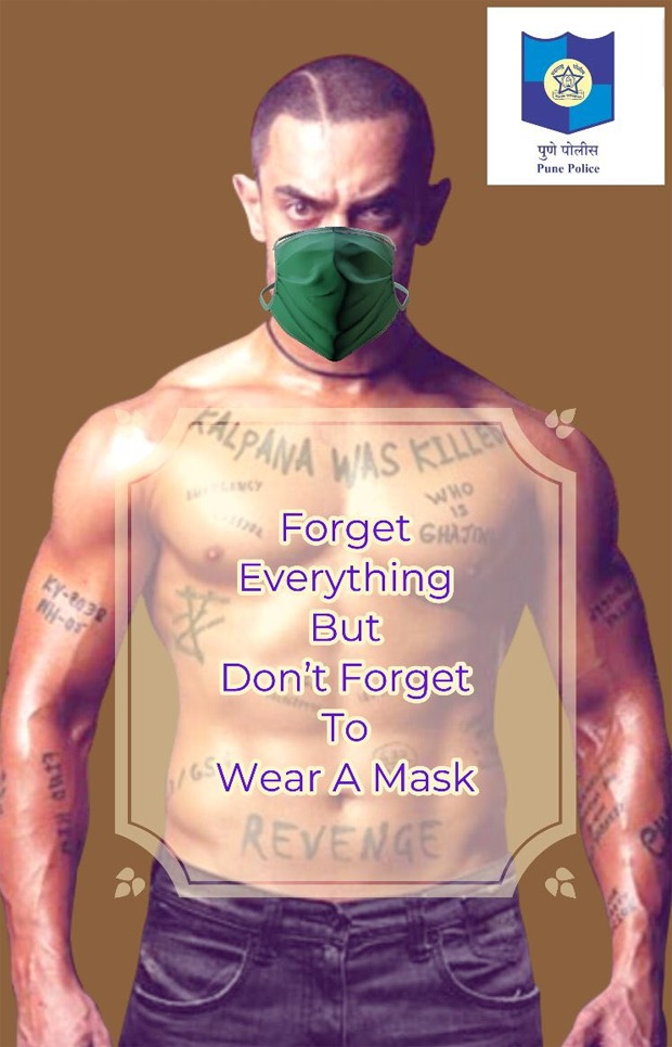 Pune Police uses Aamir Khan's Ghajini photo to urge citizens to wear face masks amid Coronavirus pandemic