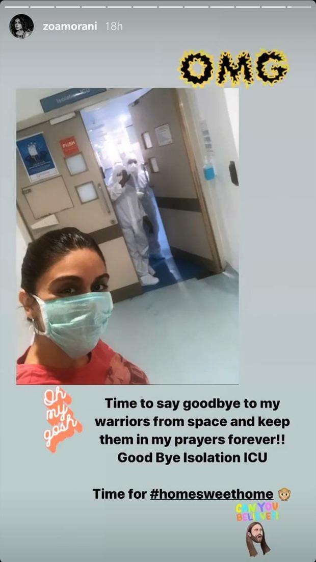 COVID-19: Zoa Morani and Shaza Morani pen heartfelt notes as they are discharged from the hospital