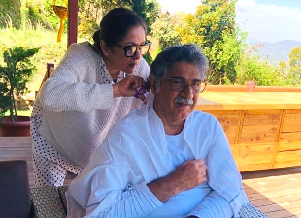 After getting a head massage from husband Vivek Mehra, Neena Gupta returns the favour