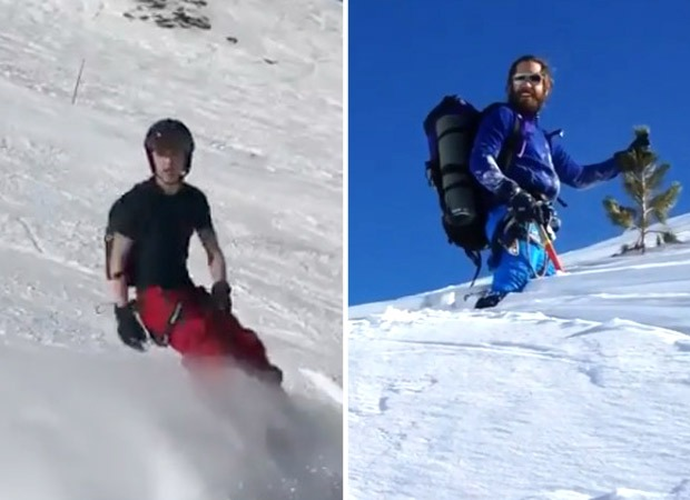 Tom Holland being an ace at snowboarding but Jake Gyllenhaal struggling is pretty hilarious, watch videos