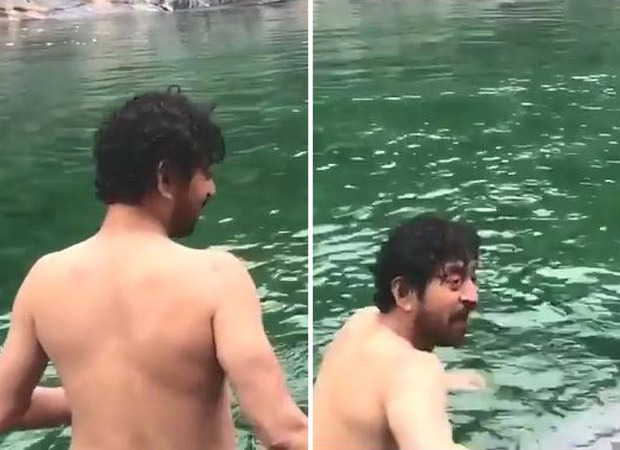Irrfan Khan's son Babil shares an unseen video of his father enjoying a dip in ice-cold water