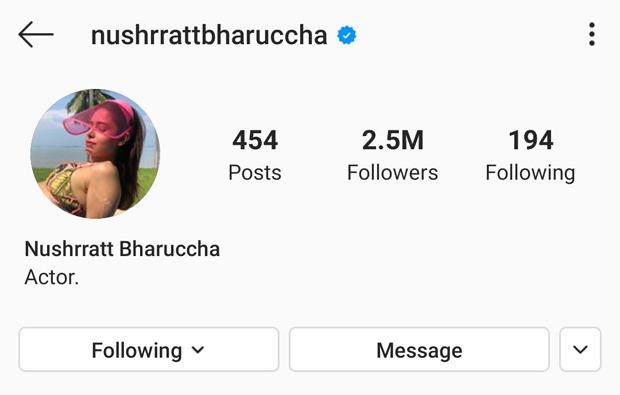 Nushrat Bharucha changes her spelling name to 'Nushrratt Bharuccha'