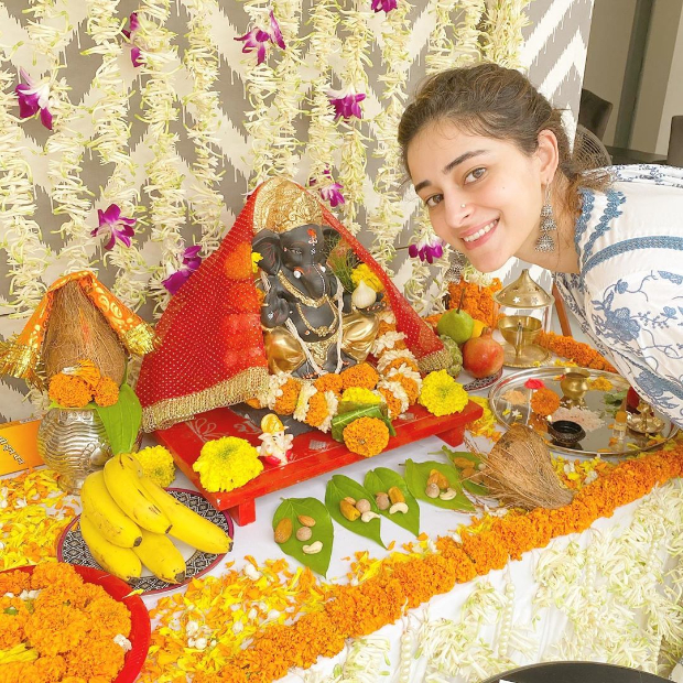 Ananya Panday welcomes Bappa on the auspicious occasion of Ganesh Chaturthi