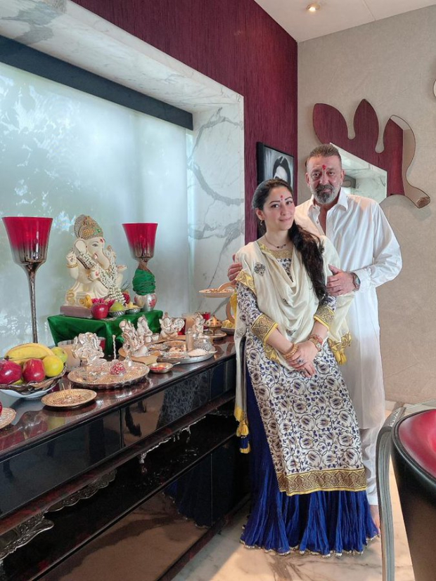 Sanjay Dutt celebrates Ganesh Chaturthi with Maanayata Dutt and family in a simple way this year