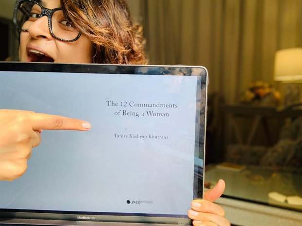 Tahira Kashyap Khurrana shares first glimpse of her unreleased book, The 12 Commandments Of Being A Woman