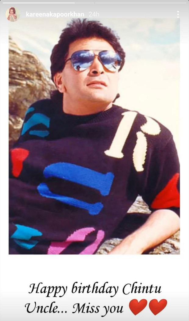 Kareena Kapoor Khan misses Rishi Kapoor aka her 'Chintu uncle'