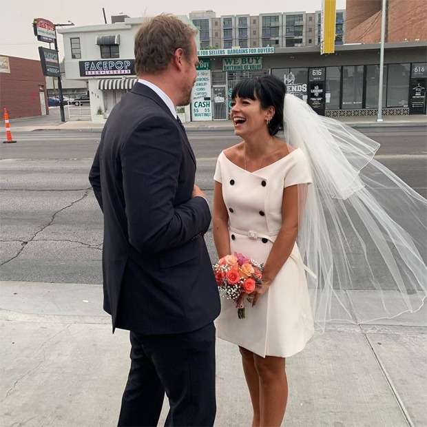 Stranger Things actorDavid Harbour marries Lily Allen, check out their precious photos from Las Vegas