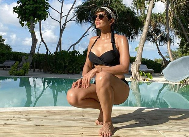 Mandira Bedi looks stunning in a black bikini as she vacations in the Maldives
