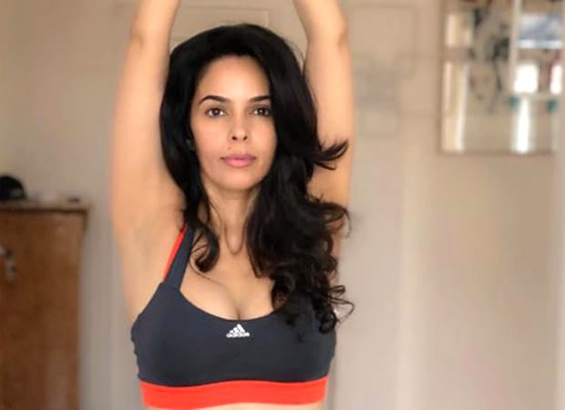 Mallika Sherawat shares picture of herself doing the Urdhva Hastasana