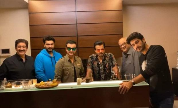 Anil Kapoor, Arjun Kapoor, Boney Kapoor celebrate Sanjay Kapoor's birthday with family gathering