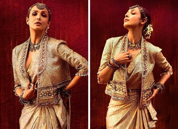 GOLDEN AFFAIR! Malaika Arora looks majestic in ethnic fusion Tarun Tahiliani ensemble