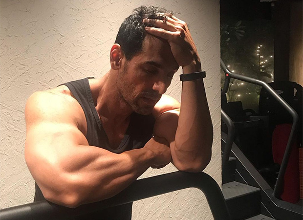 John Abraham flaunts his biceps after gruelling workout session, says he is smiling inside