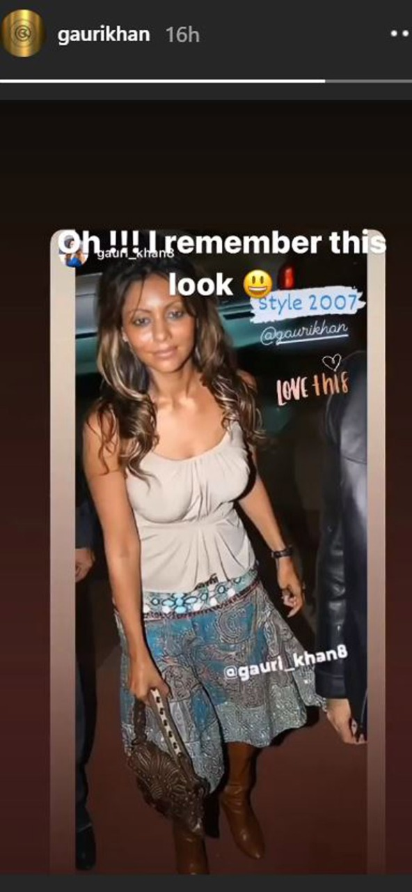 Gauri Khan shares a 13-year-old picture of herself; says she remembers the look and still loves it