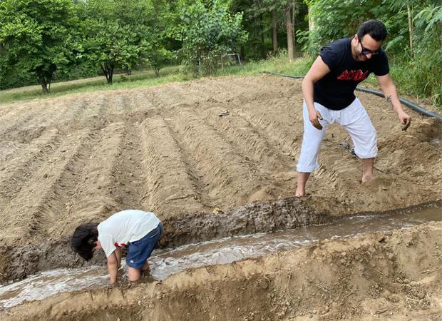 Check Out: Saif Ali Khan and son Taimur Ali Khan enjoy the farm life in Pataudi