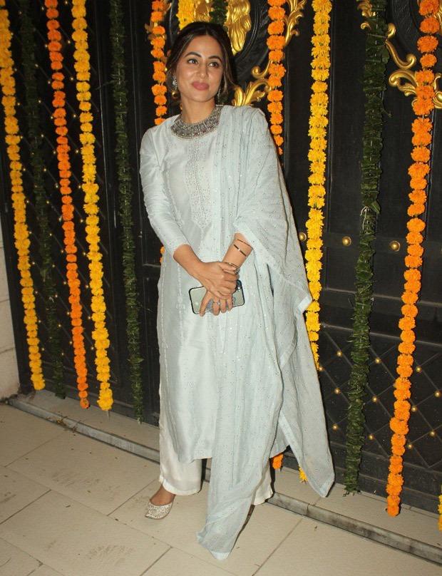 PICS: Hina Khan, Shabir Ahluwalia, Mouni Roy and others look stunning as they attend Ekta Kapoor's Diwali party