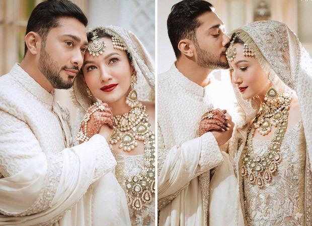 Gauahar Khan and Zaid Darbar look like royalty in ivory outfits in the first pictures from their nikaah