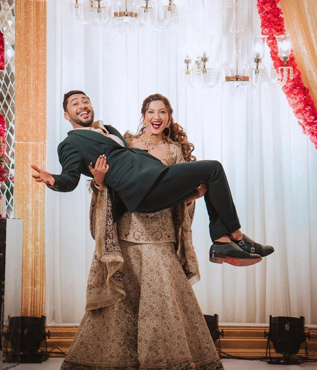 Gauahar Khan and Zaid Darbar look oh-so-in-love for their Walima function