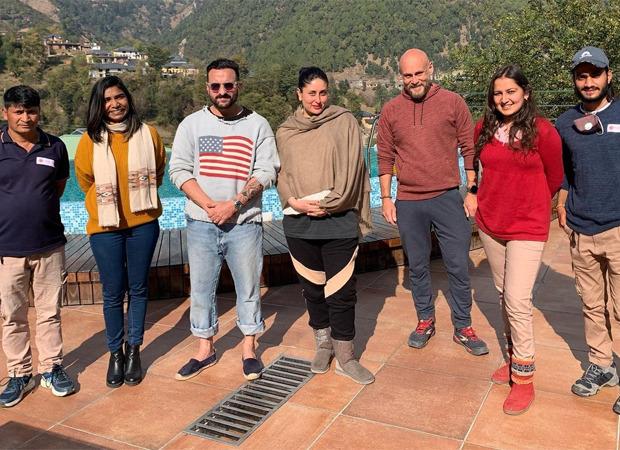 Kareena Kapoor Khan and Saif Ali Khan go out and about in Palampur along with Taimur Ali Khan