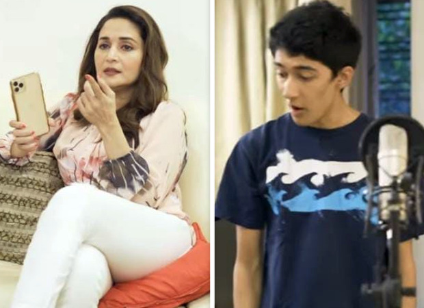 Madhuri Dixit enjoys fun jamming session with husband Shriram Nene and sons