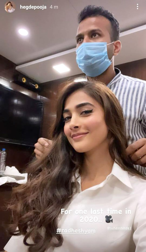 Pooja Hegde wraps the year with work as she shoots for Radhe Shyam