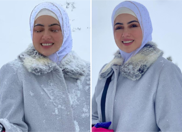 Sana Khan can't stop smiling in the snow during her honeymoon in Kashmir