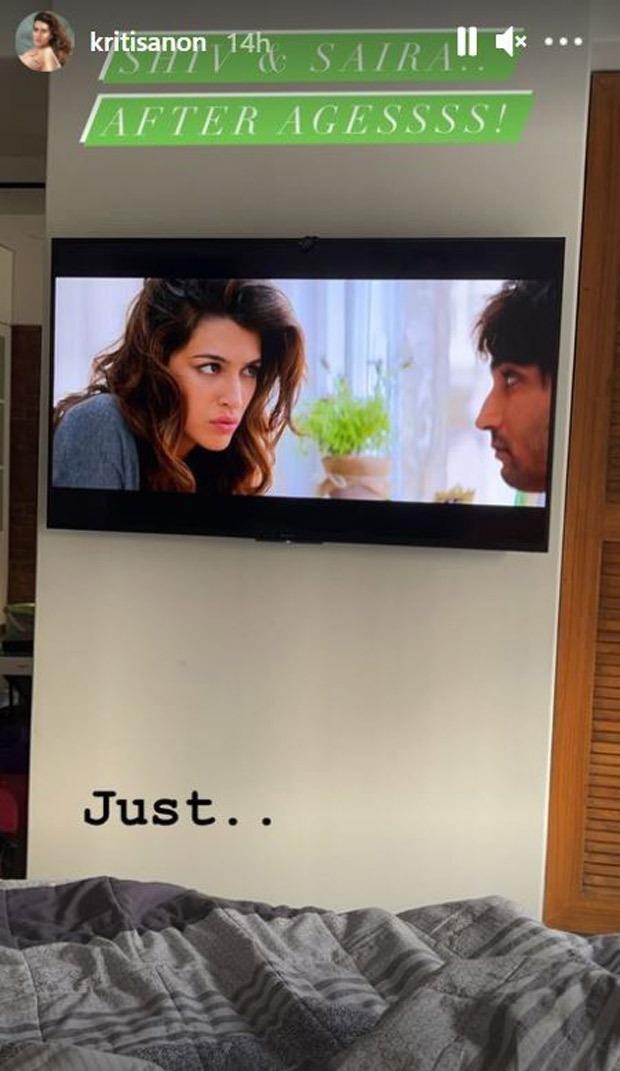Kriti Sanon watches Raabta featuring her and Sushant Singh Rajput while in quarantine