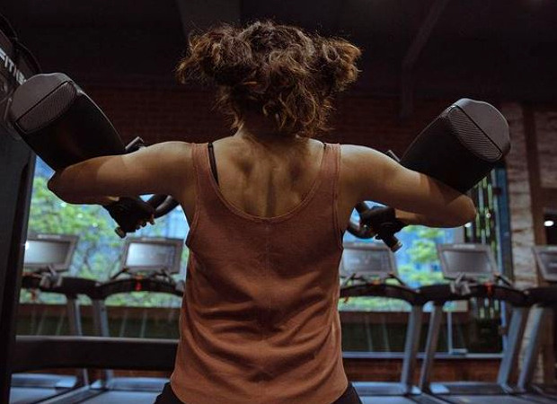 Taapsee Pannu gives a glimpse into her 'bad hair day' as she work it out in the gym