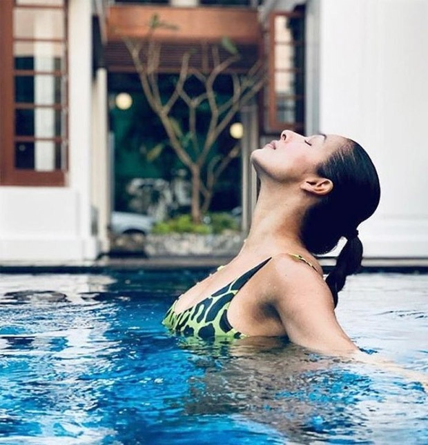 Malaika Arora poses by the pool as she holidays in Goa with Arjun Kapoor